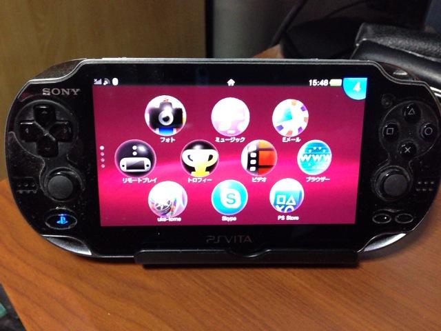 WiiU Padの充電なしスタンドがPS Vitaで役立つっぽい